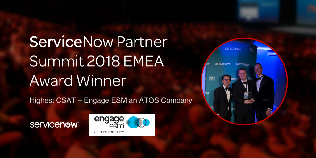 Engage ESM gewinnt den ServiceNow <br>Customer Satisfaction Award
