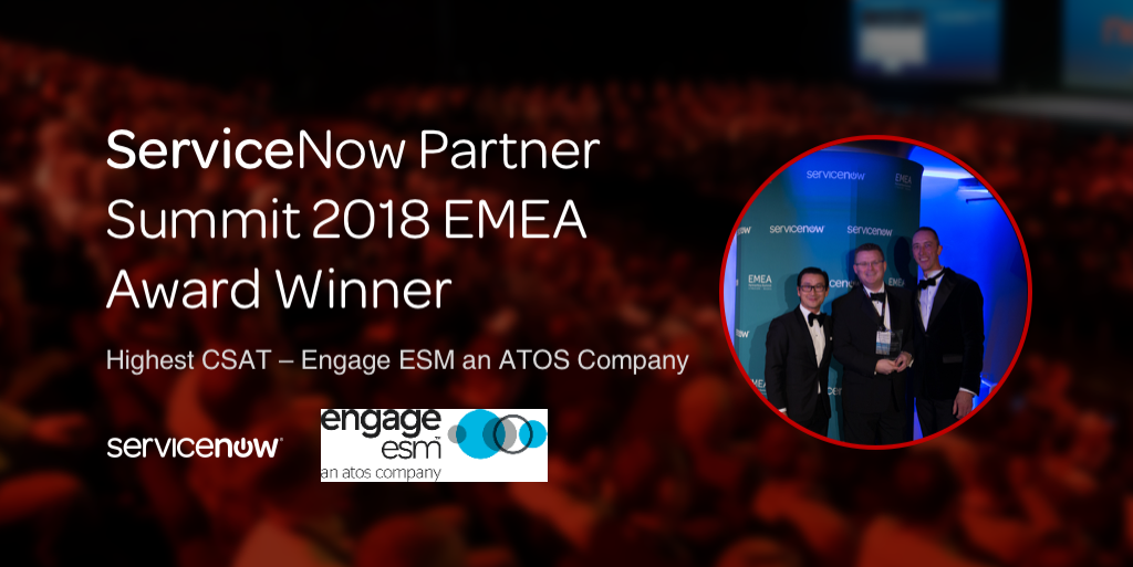 Engage ESM Wins ServiceNow <br>Customer Satisfaction Award