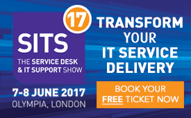 Join us at SITS17 - The Service Desk and IT Support Show