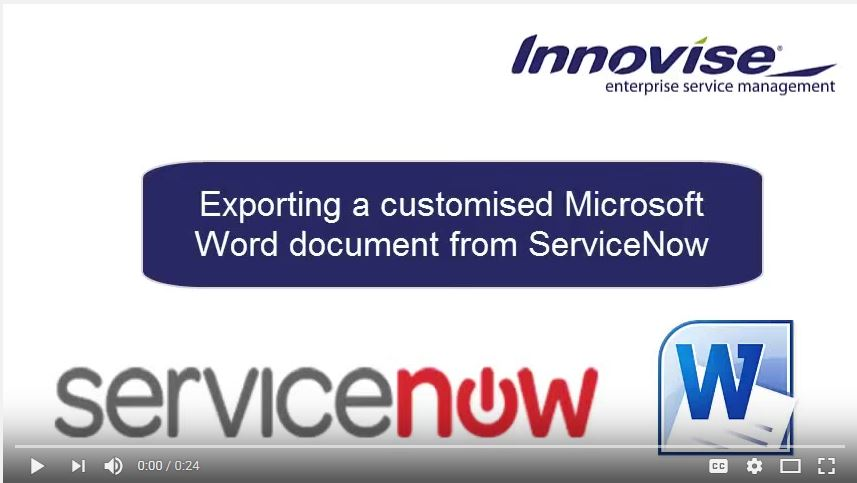 Generate MS Word from ServiceNow