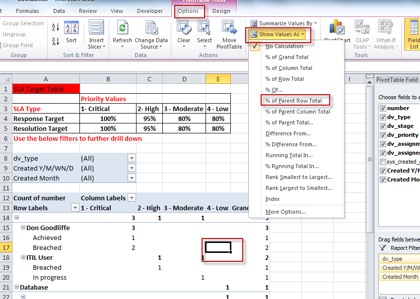 "Excel"" with ServiceNow Advanced Reports - part 3 