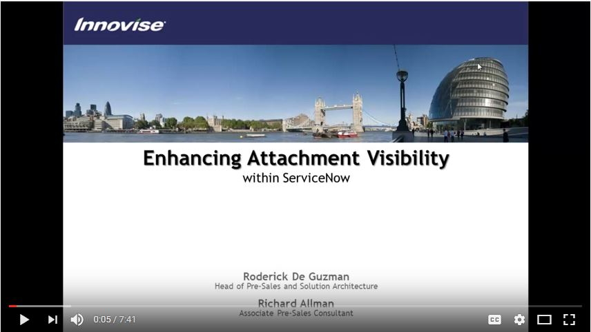 Enhancing Attachment Visibility in ServiceNow